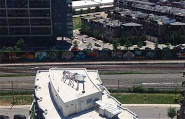 high rise roof painting